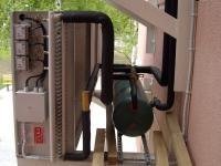 Наружный блок воздушного охлаждения чиллера.