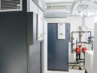 Техническая комната, прецизионный кондиционер и чиллер.